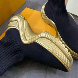Designer-Stiefel Damen Plattform-beiläufige Schuh Exquisite Box Verpackung Mode Herbst und Winter goldenen Soles Socken Stiefel