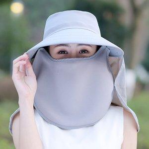 Woman sun hat sun protection hat detachable bike uv protection beach summer travel helmet protective face sunshade