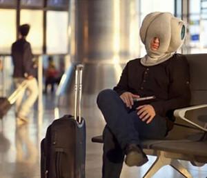 Cojín portátil avestruz almohadilla de la siesta del cuello por un resto Avión viaje Oficina de coches Plano Cuello Almohada de la siesta nueva GGA2861