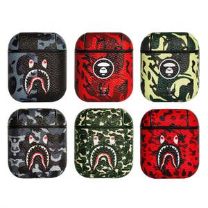 Кожаный жесткий чехол для Airpods защитный Беспроводной Bluetooth зарядный мешок наушники гарнитура коробка аксессуары 6 стилей DHL