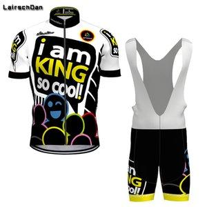 SPTGRVO Lairschdan 2020 Funny cartoon cycling jersey curto Set homem terno ciclo respirável e de secagem rápida Ciclismo Jersey Curto