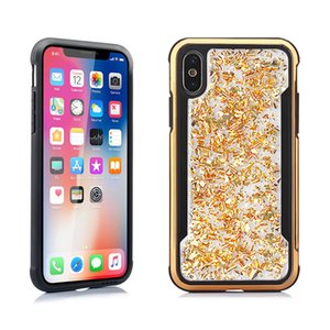 Epoxy Plating two-tone phone case For iPhone 11 pro XS XR Xs Max 7 8 Samsung S10e Plus S9 Note 10 Soft TPU+PC Protective Shell Cover