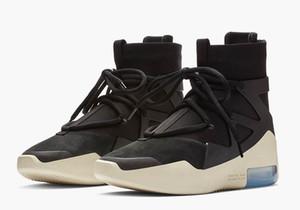 2019 nueva llegada Fear Of God 1 Luz Bone Negro de los zapatos corrientes para Top 1s Hombres Mujeres Tamaño zapatos deportivos 36-45