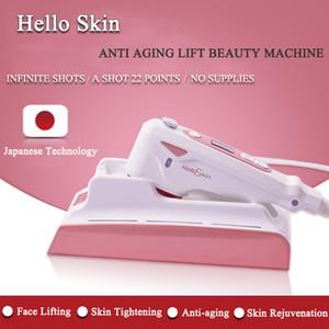 2020 Hallo Haut HIFU Gesichtslifting Haut mini HIFU Anziehen fokussiertem Ultraschall Heimgebrauch Schönheit Maschine Hautverjüngung DHL-freies Verschiffen