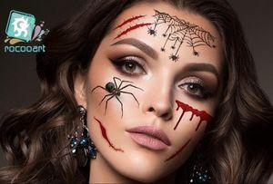 Nouvelle Halloween temporaire jour autocollant de tatouage HAICAR des morts Dia de los Muertos Visage Masque de crâne de sucre autocollant de tatouage GB1177