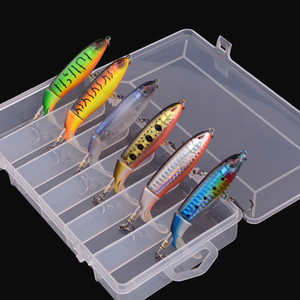 6 piezas con caja Whopper Plopper 100mm 13g Flotador Popper señuelo de pesca Artificial Hard Bait Wobbler Rotating Tail Fishing Tackle