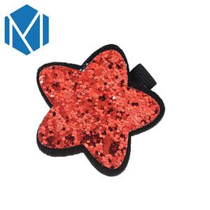 M MISM 1pc Beautiful Star Hairpins Children Hair Accessories Shiny Sequin Star Hair Clip Lovely Bow Shape Headwear Hairgrip