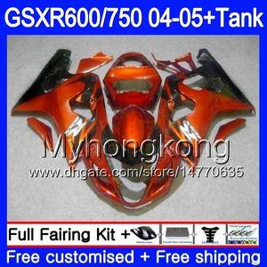 Bodys + Tank SUZUKI GSXR 750 GSXR Için 600 GSXR-750 GSX-R600 2004 2005