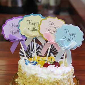 5pcs / set 생일 파티 생일 케이크 파티 toppers 생일 케이크 파티 뜨거운 판매 4 색상