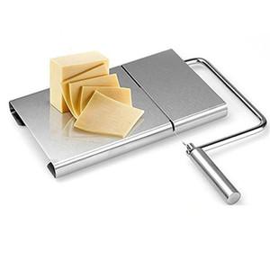Edelstahl-Drahtkäseschneider Cutter Butter Cutting Servierbrett für Hartkäse Wurst Gemüse JK2007KD