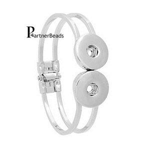 Großhandel Ginger Snaps Armbänder Elastizität Armbänder passen 18MM Snaps Knöpfe passen Tasten KB0177