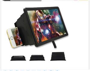 Yepyeni Yeni F2 Büyüteç Gözler Koruma Görüntü Katlama 3D Ekran Cep Telefonu Amplifikatör Cep telefonu Tutucu Büyümüş Genişletici Standı