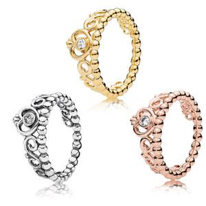 MINA BEAR 925 Sterling Silber Damen Rose Kopfschmuck Ring Transparent CZ für Memorial Day Geschenke Original 1: 1 Modeschmuck