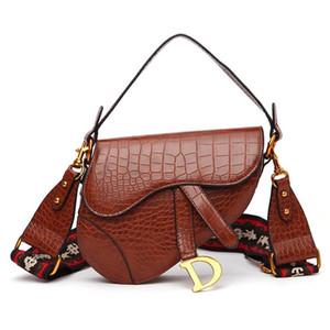 Designer-2020 novo saco de sela, moda coreana, tudo-em torno de banda larga de um ombro Messenger Bag Handbag