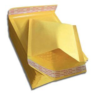 Sacchetti di immagazzinaggio Sacchetto di spedizione Materiale di imballaggio per la spedizione Kraft Bubble Mailer Imbottitura Autosigillante Colore oro PE Busta per corriere poli