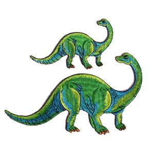 1set Cartoon Animal Dinosaur Embroidery Patch for Clothes Iron on Patches Applique Diy Accessorie for Child SC4341