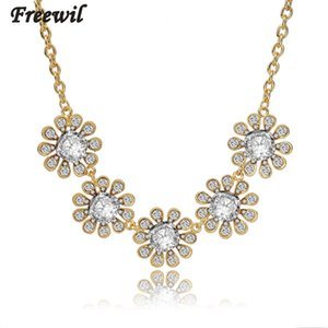 Low Maxi Crystal Chunky Flower Necklace For Women Statement Necklace Gold Chain Necklaces & Pendants Colar Feminino Sne150833