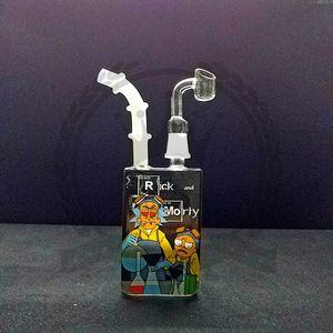 bong óleo água tubo DAB sonda rigs dupla favo de mel perc tubos inebriantes cera roxo quartzo foguetes bongs rosa precipitada borbulhador taça