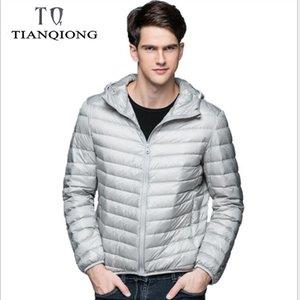 Tian Qiong 2018 Aşağı Ceket Erkekler Kış Taşınabilirlik Sıcak% 90 Beyaz Ördek Aşağı Kapşonlu Man Coat Jaqueta Masculino chaqueta Hombre