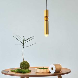 Single Head Минимализм Led Nordic Золотая пуля свет подвеска 5w Творческий Прикроватная столовая комната Cylinder GU10 под потолком Hanglamp I282