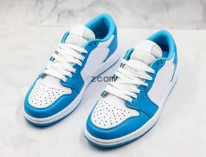 2019 x Sb Dunk 1 Faible UNC Bleu Blanc Chaussures De Skateboard Mca 1s Femmes Hommes Designer Baskets Basket Baskets des Chaussures Schuhe