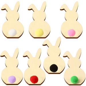 Páscoa Orelhas de coelho Crafts Coelho DIY Coelho Party Room Arte decorativa Decoração Início Ornamentos Fontes Artesanato caçoa o presente LJJA3736