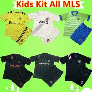 Kinder-Kit 2020 2021 Jungen Trikots ALL MLS socer LA Galaxy INTER MIAMI LAFC Los Angeles Kind set Stadt Atlanta Vereinigte Hemd New York passen