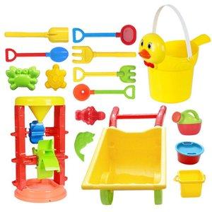 Kinder Strand Spielen Spielzeug Set Sanduhr Cart Warenkorb Entlein Eimer Spielzeug Glatte ungiftig Kunststoff Bad Wasser Spielwerkzeug