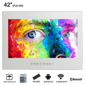 """42 """"pouces Publicité Smart Display Miroir Bluetooth WiFi TV LED Hôtel de luxe Cuisine Appareil Salle de bains Étanche LED TV à écran plat"""