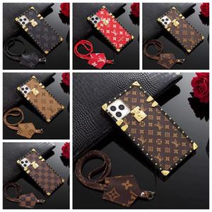 Classique Marque Old Flower Designer Téléphone pour iPhone 11 11 Pro Max X XS MAX XR 8 8 plus 7 7P 6s PU cuir téléphone portable Housse A11