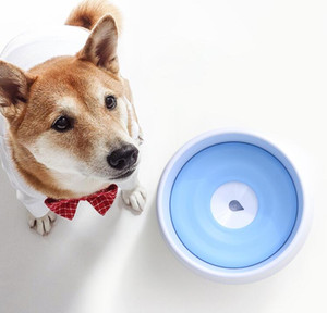 Köpek yüzdürme kase pet besleyici köpek kase üç şeker renk büyük boy gıda ve su köpek kase sıçrama geçirmez