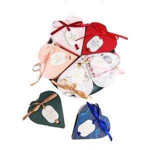 Caixa dos doces Forma 10pcs criativa do amor do coração com chuveiro fita Bebê Casamento Anniversary Gift Box Party Supplies