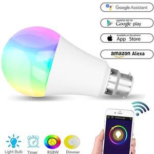RGB + Branco Quente WI-FI LED Inteligente Trabalho de Controle de Voz Lâmpada Luz Com Alexa Night Light Lâmpada de Poupança de Energia Lâmpada Multifuncional DH1183 T03
