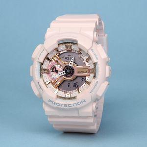 Relógios de luxo Mens G Sports GA100 LED impermeável Digital S Choque Homens 100 Assista todos os ponteiros Trabalho Auto Luz com caixa Drop Ship