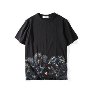 남성 스타일리스트 T 셔츠 남성 의류 3D 오랑우탄 여름 T 셔츠 힙합 남성 여성 짧은 소매 크기 S-XXL