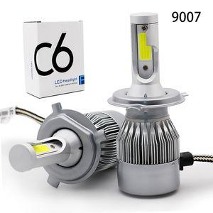 Los faros del coche universal C6 faros LED brillante bombilla de la luz H7H1H4H11H9 9005 9007 9006 luces del coche