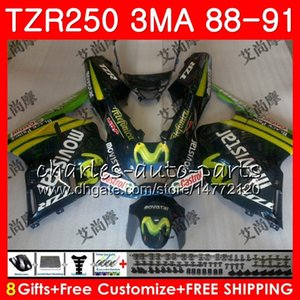 هيكل لـ YAMAHA TZR250 3MA TZR 250 RS RR YPVS TZR250RR 118HM.90 TZR-250 Movistar green 88 89 90 91 TZR250 1988 1989 1990 1991 Fairings kit