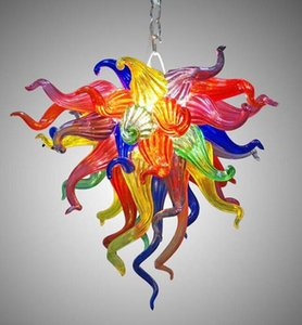 Multi Colored Glass Crystal Chandelier Colorful Cheap Small Chandelier Lighting Living Room Dining Room LED Glass Art Lights
