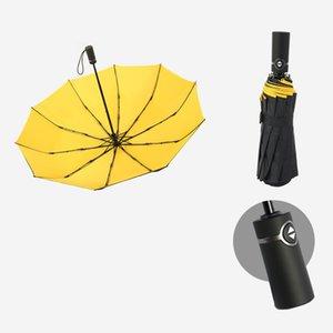 Parapluie à deux couches entièrement automatique pliant un parapluie publicitaire à double usage.