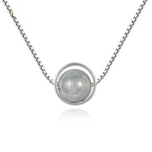 Moonstone perles Colliers pendentif pour femmes 2018 Nouvelle Tendance Argent 925 Fasion joaillierie 925-236