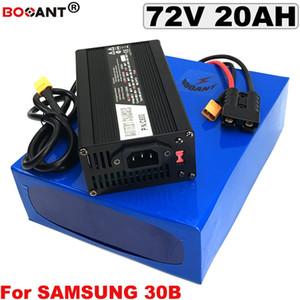 72 v 20AH E moto-bateria De Lítio BBSHD 72 v bateria bicicleta Elétrica para Bafang 1500 w 1800 w Motor + 5A Carregador Frete Grátis