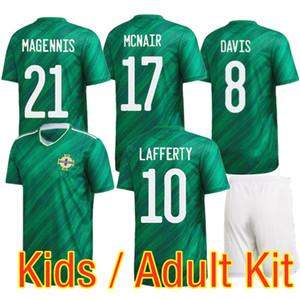 20 21 Adult Kids Northern Ireland Soccer Jersey Set 2020 European Child Men Kit LAFFERTY DAVIS MAGENNIS EVANS MCNAIR BOYCE Football Uniform