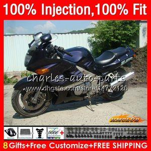 Injection Pour KAWASAKI ZZR400 noir Stock ZZR400 99 00 01 02 03 04 05 06 07 85HC.19 ZZR 400 1999 2000 2001 2002 2003 2004 2005 2007 Carénage
