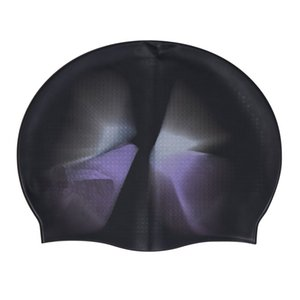 Elastic Waterproof Silicone Fabric Protector Ears Long Hair Sports Swim Pool Hat Swimming Cap Free Size Adult Anti-slip