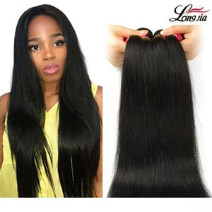 A Indian Straight Weave Bundles Natural Color 100 %Human Hair Bundles 8 &Quot ;-28 &Quot ;Hair Extension Straight Remy Hair Free Shippi