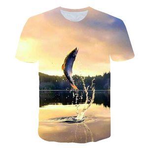 2020 New Fishing T shirt Style Casual Digital Fish 3D Print T-shirt Men Women Tshirt Summer Short Sleeve O-neck Tops&Tees S-6XL