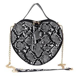 Luxury Handbags Women Bags Designer Fashion Women'S Bag Serpentine Heart-Shaped Chain Shoulder Crossbody Bags For Women Clutch