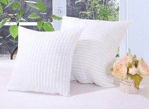 Squre Yastık Ekler Mermaid Yastıklar için PP Pamuk Dolması Yastık Çekirdek Emoji Yastık Çekirdek Polyester Çizgili Kapakları 45 * 45 cm