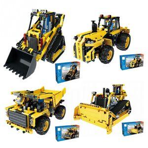 4CH RC Engineering Truck DIY Assemblaggio Veicolo Building Block Toy DIY Assemblaggio Car Engineering per i bambini regalo di Natale