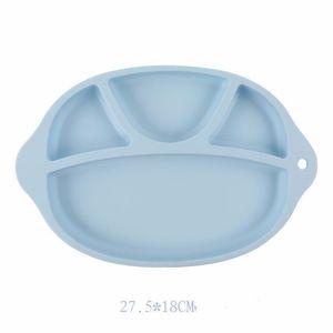 Baby Safe Silicone Plate à manger sans BPA enfants solides plats d'aspiration Toddle Formation Arts de la Table Cute Cartoon enfants Nourrir bols RRA2882